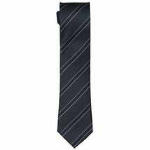 Kenneth Cole Reaction Mens Silk Striped Neck Tie Gray O/S - $9.45