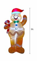 BIGJOYS 7 Ft Inflatable Christmas Gingerbread Man Decoration Hold a Cand... - €51,60 EUR