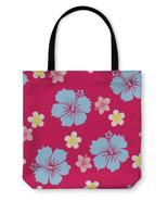 Tote Bag, Hibiscus Pattern - $29.95+