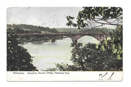 Philadelphia PA Strawberry Mansion Fairmount Park Trolley Bridge 1907 Po... - $4.99