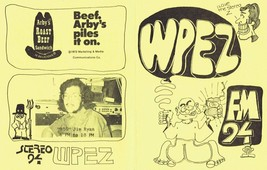 WPEZ 94 Pittsburgh VINTAGE March 15 1974 Music Survey w/ Arby's Advertis... - $13.99