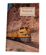 Railroads 1963 American Geographical Society 63 Page Booklet - $6.88