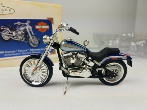 Hallmark 2000 Ornament Harley Davidson Softail Deuce Motorcycle Milestones image 3