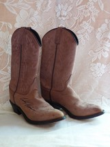Old West Distressed Leather Cowgirl Boots Signed: Rodeo Pro Cody Harris ... - $56.08