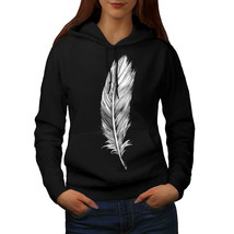 Elegant Feather Sweatshirt Hoody Painting Women Hoodie - $21.99+