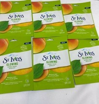 (6) St. Ives revitalizing Sheet Mask Apricot Face Hydrate Fresh Glow Sin... - $15.15
