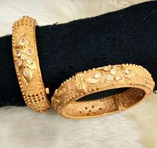 BabosaSakhi Indian Bollywood 22k Gold Plated Ethnic Temple Polki Bangle ... - $38.28