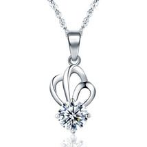 Fashion Crown CZ 925 Sterling Silver Pendant - $8.13+
