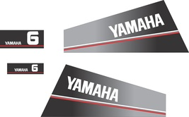 YAMAHA 6  - Outboard decal set, reproduction - $27.00