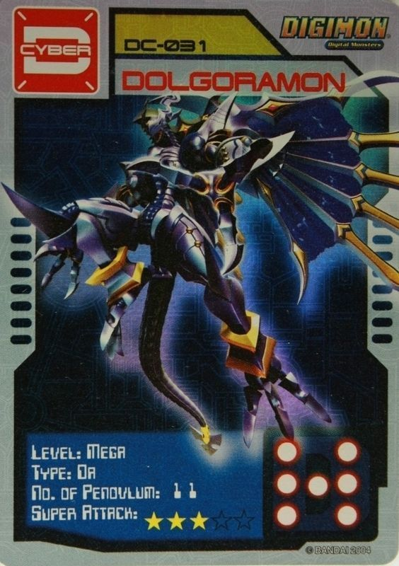 Primary image for Bandai Digimon S1 D-CYBER Collect Card Game Dolgoramon