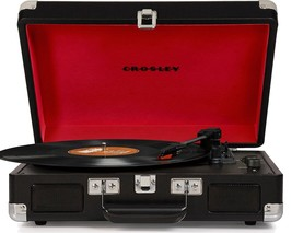 Crosley CR8005D Deluxe Cruiser Portable Bluetooth Turntable Record Player Black - $78.95