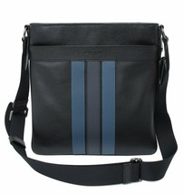 NWT Coach F23216 Men's Charles Varsity Blk Midnight  Dnm Crossbody Bag Navy - $117.99