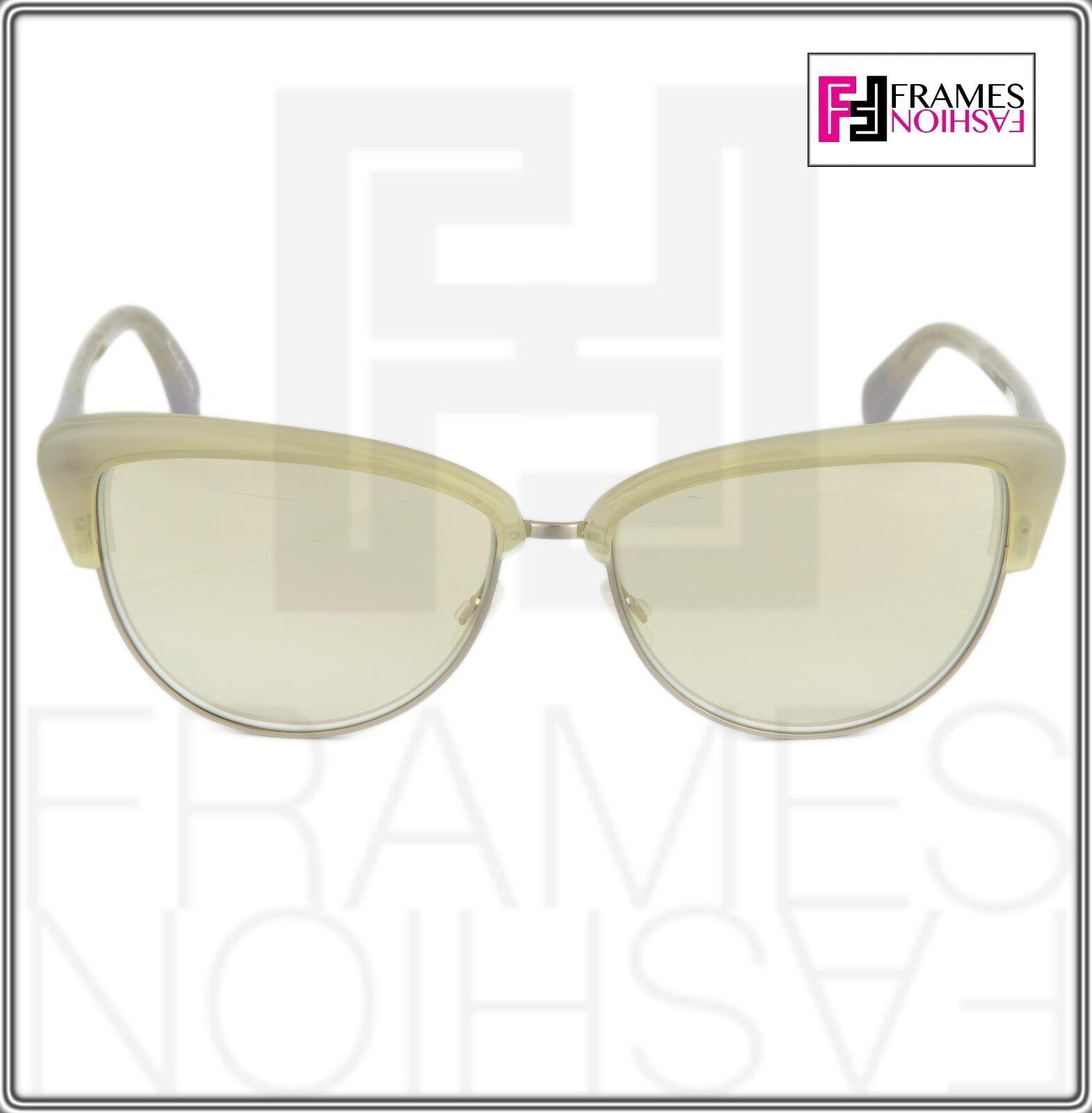 OLIVER PEOPLES ALISHA OV5244S White Pearl Flash Mirrored Sunglasses 5244 Women image 8