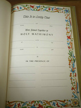 PORTRAIT OF CHRIST FOR NEWLYWEDS 1962 Marriage Wedding Record GUEST BOOK - $19.99