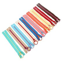MGoodoo 10pcs 15cm Resin Zipper Metal Ring Puller Colorful Sewing Pouch ... - $10.99