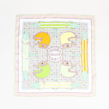"""Hermes Multicolor Silk Horse Printed """"Tatersale"""" Scarf - $230.00"""