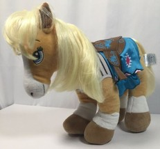Build A Bear Horses & Hearts Riding Club Palomino Horse Plush Western Sa... - $22.76