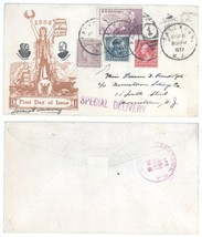1937 Patterson NJ Special Delivery Cover w/ Hawaii Overprint 688, 267 49... - $12.19