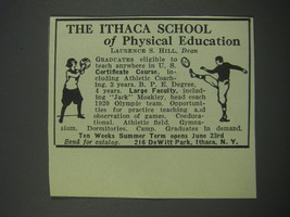 1930 The Ithaca School of Physical Education Advertisement - $14.99
