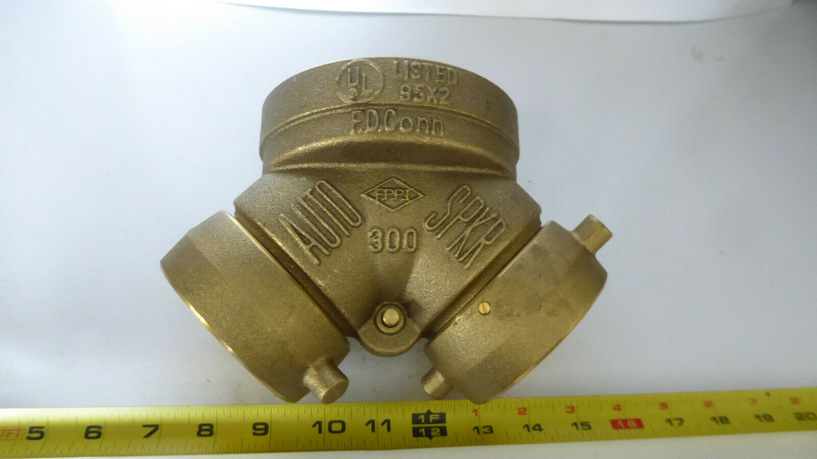 FDC Auto Spkr 300 09-000 Fire Protection Valve Brass New