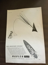 Vintage Dezember 1954 Napier Eland Original Werbung - $1.25