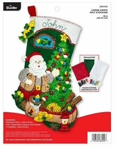 Bucilla 'Lodge Santa' Christmas Fishing Theme Stocking Felt Kit, 86940E - $26.99