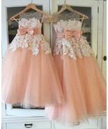 Cute Flower Girl Dresses with Bowknot - £79.92 GBP+