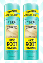 2 L'Oreal Paris Magic Root Cover Up Concealer Spray Light Blonde 2 OZ - $19.28