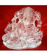 Ganesha Idol In Pure Sphatik / Lord Ganesha In Quartz Crystal - 682 gm - $1,199.00