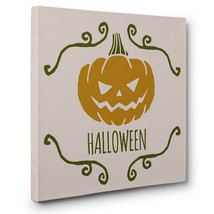 Pumpkin Vintage Halloween Decor CANVAS Wall Art - $20.50