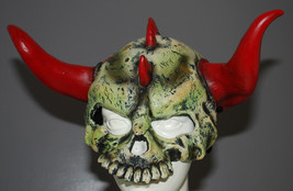 Halloween Mask Headgear Skull Red Horns Devil Skeleton Rubber Disguise Y... - $29.65