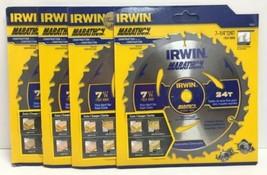 "(New) Irwin Marathon 24030 / 14030 7-1/4"" 24 T Saw Blade  Pack of 6 - $47.96"