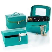 Joy Mangano Luxurious Jewel Kit Trio Plus Large Jewel Box TEAL, FUCHSIA,... - €33,02 EUR