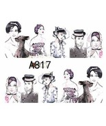 Water Transfer Watermark Art Nails Decal Sticker Audrey Hepburn A817 - $1.73