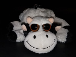 Caltoy Black/White Cow Plush Hand Puppet Stuffed Animal Toy Soft Farm - $10.65