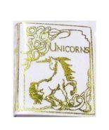 Unicorn Book NI251 Goldfoil Graphics Dollhouse Miniature - $2.35