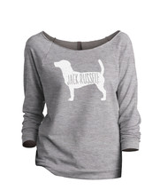 Thread Tank Jack Russell Dog Silhouette Women's Slouchy 3/4 Sleeves Raglan Sweat - $24.99+