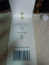 NWT Tory Burch Black Kira Chevron Top-Handle Satchel image 10