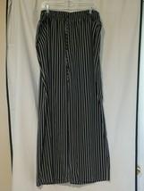 Ralph Lauren Black White Striped Wide Leg Elastic Waist Pants Plus Size 3X - $34.65