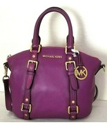 MICHAEL KORS BEDFORD POMEGRANATE PURPLE TOP ZIP CROSSBODY SATCHEL BAGNWT! - $189.99