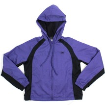 Reebok Hooded Jacket Size Small Light Weight Mesh Lined Cardio Warm Up F... - $14.35