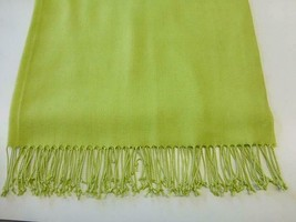 """Pashmina Bright Sping Green Chartreuse Reversible Scarf 72"""" - $18.99"""