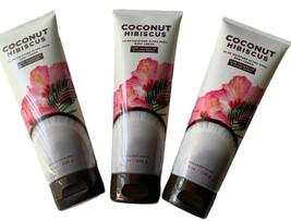 (3) Bath & Body Works-Coconut Hibiscus 24 Hr Moisture Ultra Shea Body Cr... - $46.74