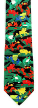 Amazon Frogs Men's Neck Tie Ralph Marlin Tropical Tree Animal Black Neck... - $24.70