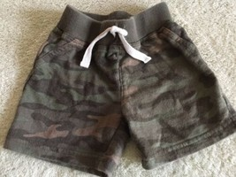 Just One You Boys Green Camouflage Sweatpant Shorts Faux Drawstring 9 Mo... - $4.50