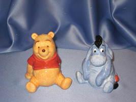 Winnie The Pooh and Eeyore - Salt & Pepper Shaker Set by Disney. - $28.00