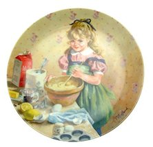 Bradford Exchange Knowles Reco International Beckys Day Collection Muffin Making - $35.04
