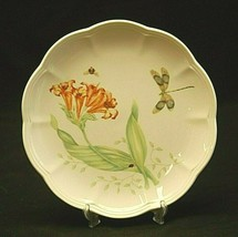 "Butterfly Meadow Dragonfly by Lenox 9"" Luncheon Plate Butterflies Floral Accents - $21.77"
