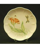"""Butterfly Meadow Dragonfly by Lenox 9"""" Luncheon Plate Butterflies Floral... - $21.77"""