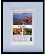 1964 Virginia Travel Tourism Framed 11x14 ORIGINAL Vintage Advertisement - $41.71